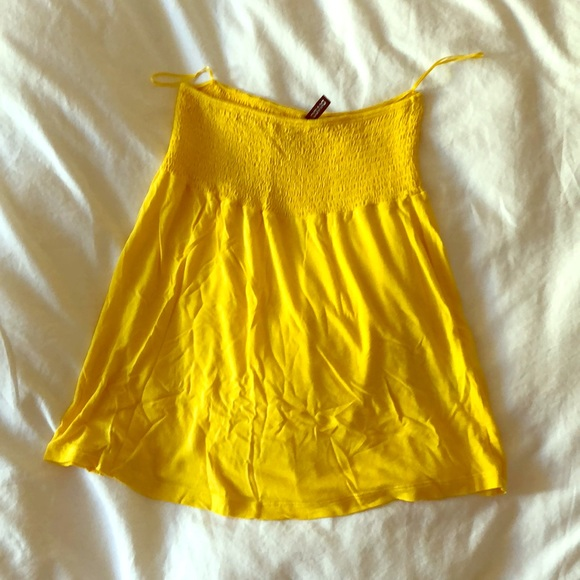 0d4ab5a0a7 H M Tops - H M bright yellow loose fitting tube top
